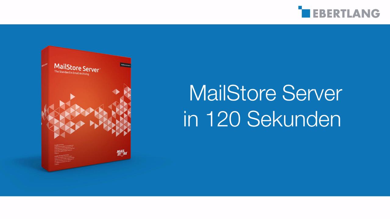 EL-Videocast: E-Mails clever archivieren mit MailStore Server